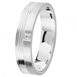 Bague argent diamant - 002739
