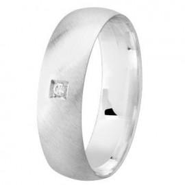 Bague diamant argent - 002740