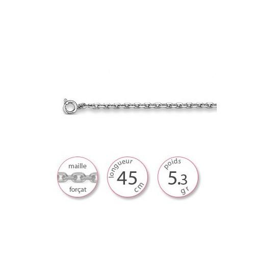Collier chaine argent - 000626