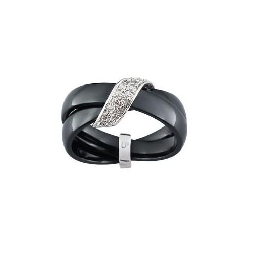 bague c ramique or blanc et diamants. Black Bedroom Furniture Sets. Home Design Ideas