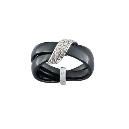 Bague céramique, Or et Diamant