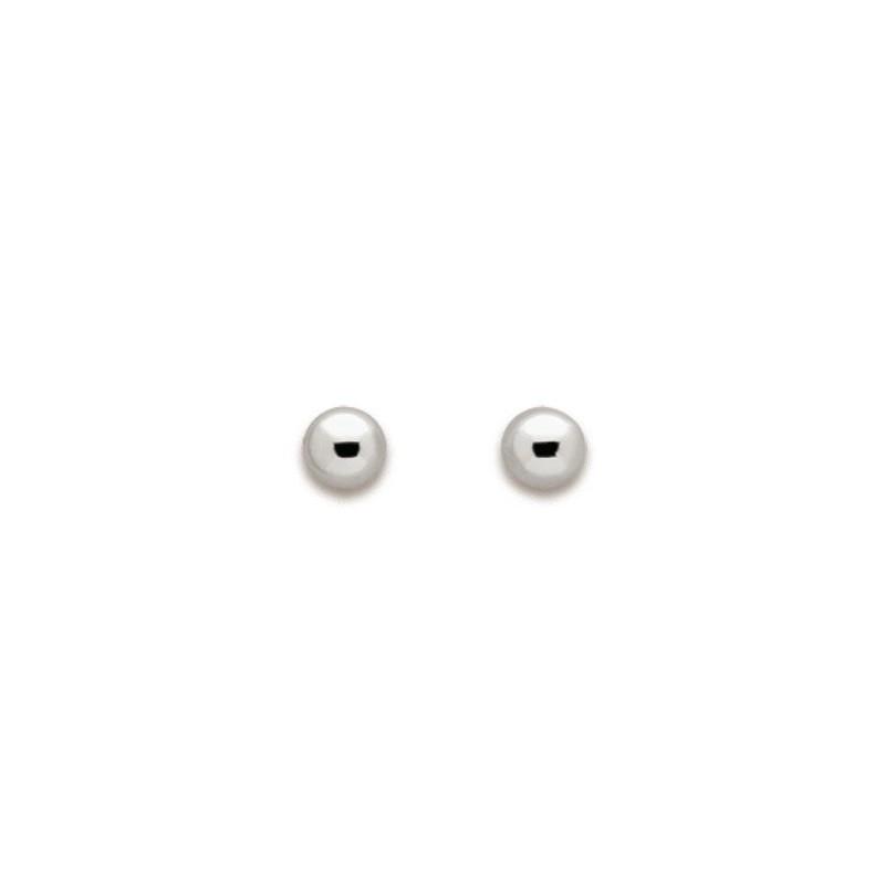Boucles d'oreilles or blanc - 000721