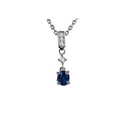 Collier Argent pierre bleue