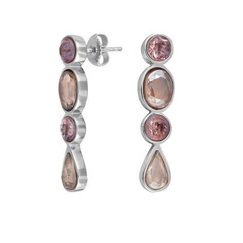 Boucles d'oreilles Nina Ricci Argent et oxyde de zirconium