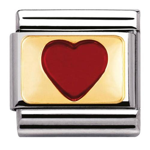 Maillon Nomination classic coeur sur or