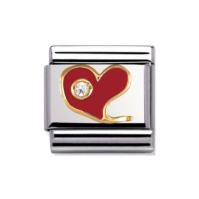 Maillon Nomination classic coeur et oxyde