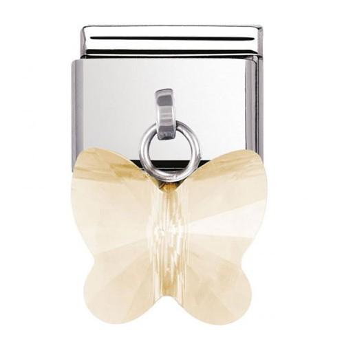 Maillon Nomination classic charms papillon champagne