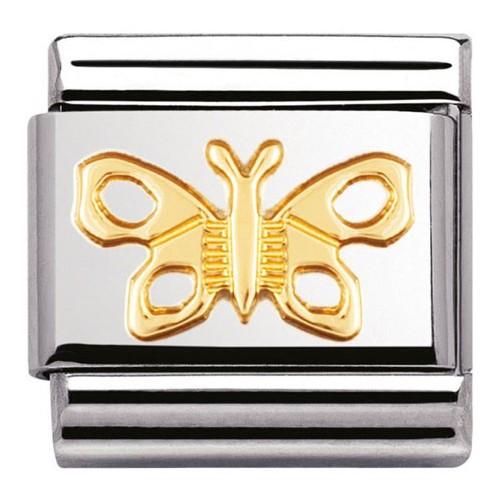 Maillon Nomination classic papillon en Or