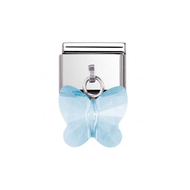Maillon Nomination classic charms papillon bleu