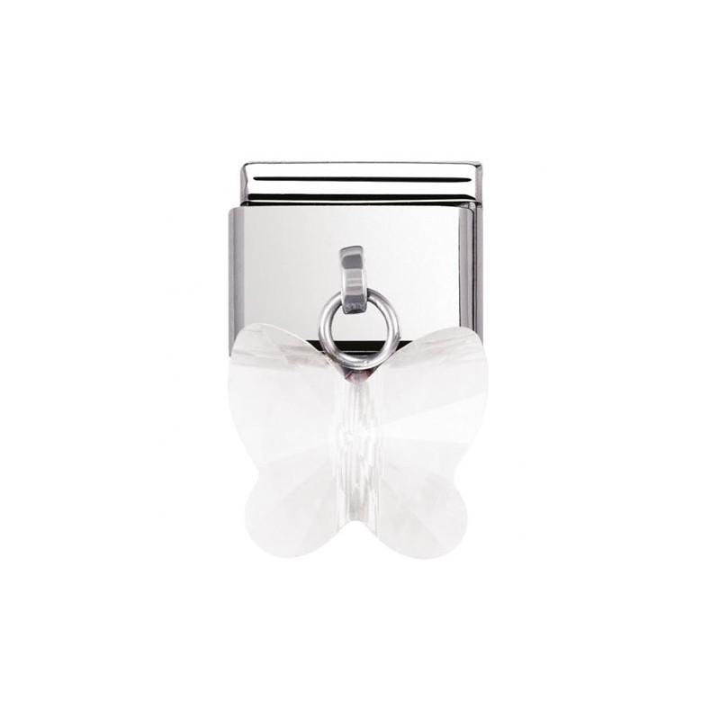 Maillon Nomination classic charms papillon blanc
