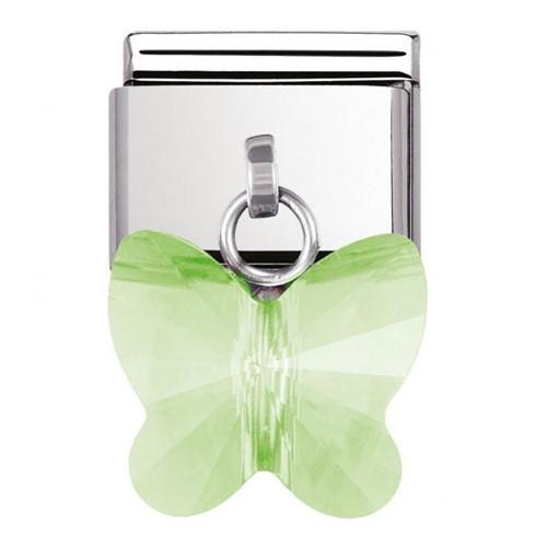 Maillon Nomination classic charms papillon vert