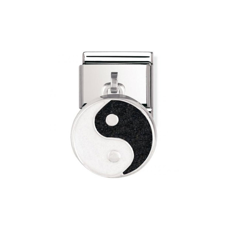 Maillon Nomination classic charms yin et yang