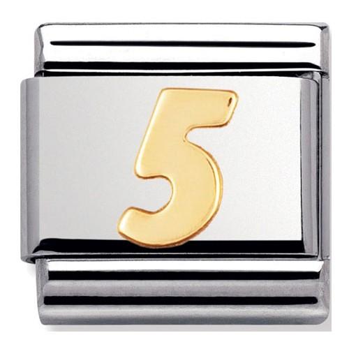 Maillon Nomination classic chiffre 5 en Or