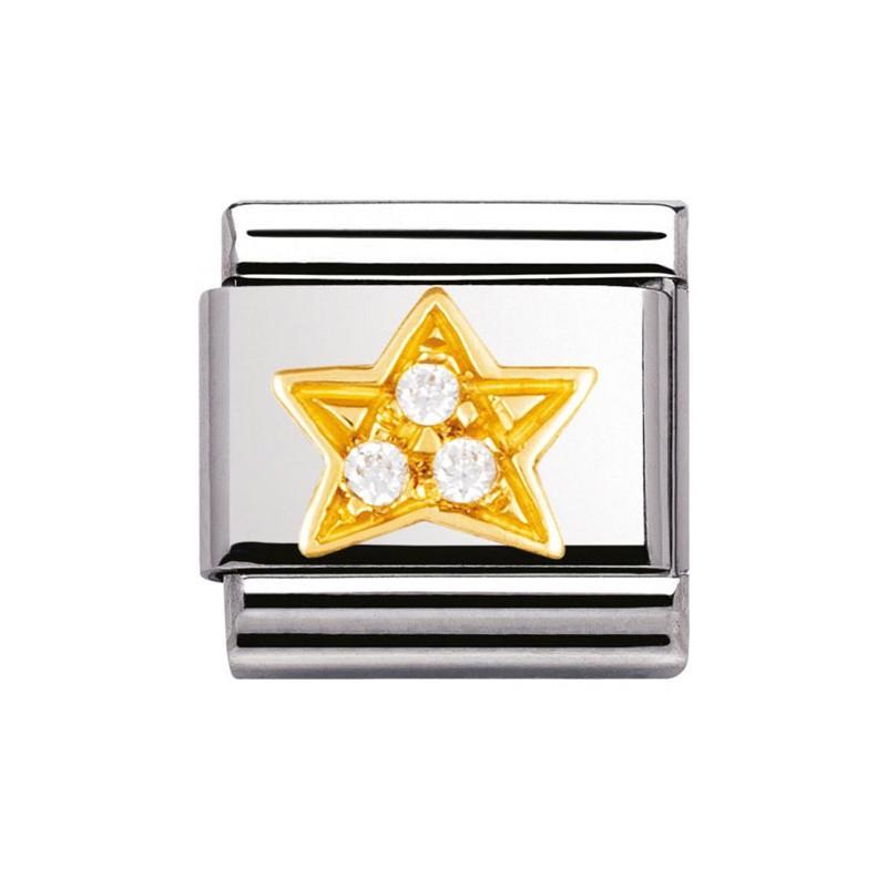 Nomination classic étoile et pierres blanches