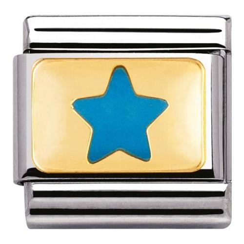 Maillon Nomination classic étoile bleu ciel
