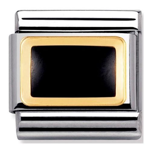 Maillon Nomination classic rectangle noir