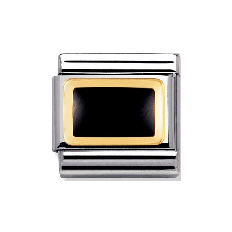 Mailllon Nomination classic rectangle noir