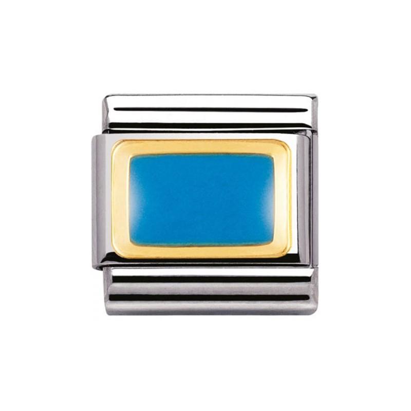 Mailllon Nomination classic rectangle bleu