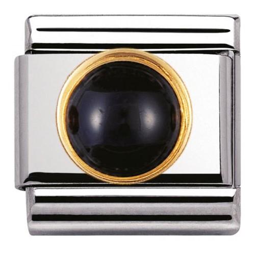 Maillon Nomination classic agathe noire ronde