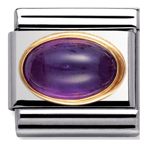 Maillon Nomination classic améthyste violette
