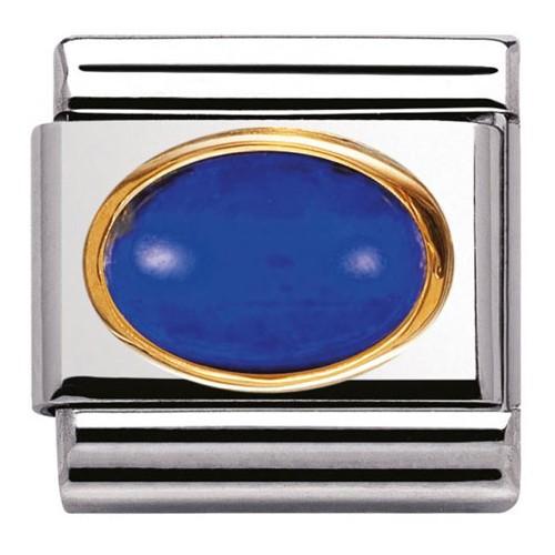 Maillon Nomination classic lapis lazuli ovale
