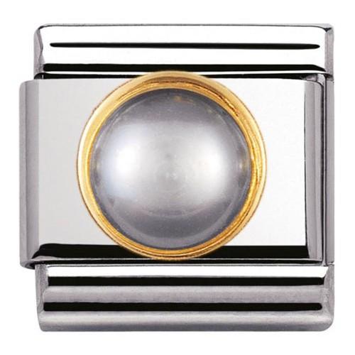 Maillon Nomination classic perle grise