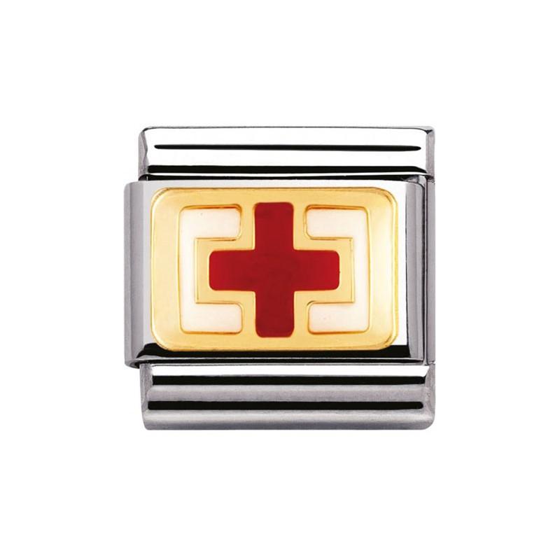 Maillon Nomination classic croix rouge