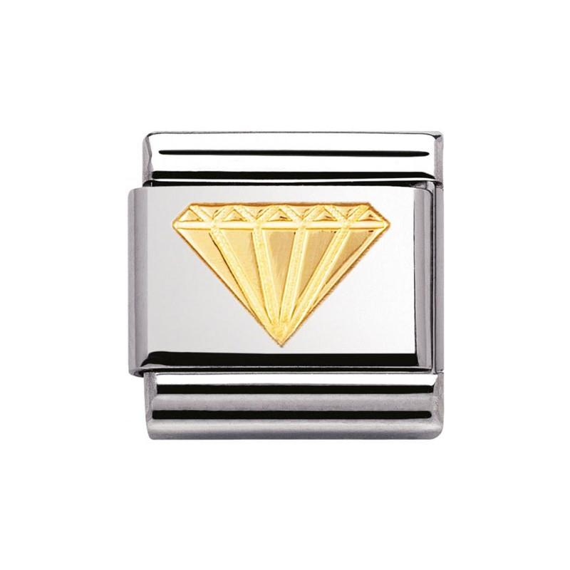 Maillon Nomination classic diamant en Or