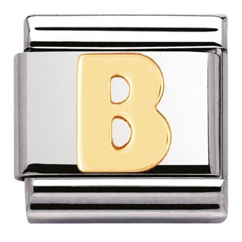 Maillon Nomination classic Lettre B standard Or
