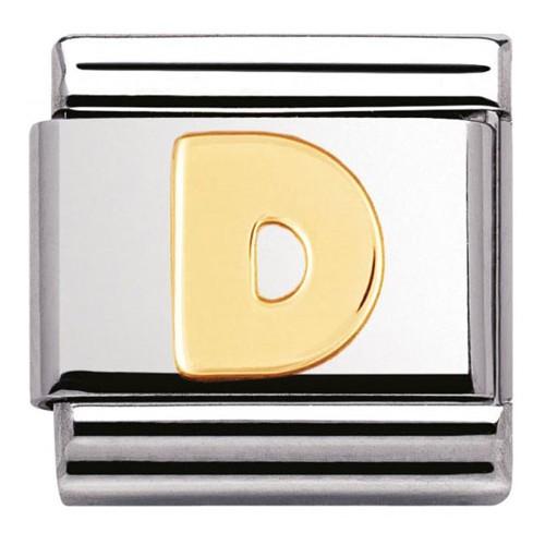 Maillon Nomination classic Lettre D standard Or