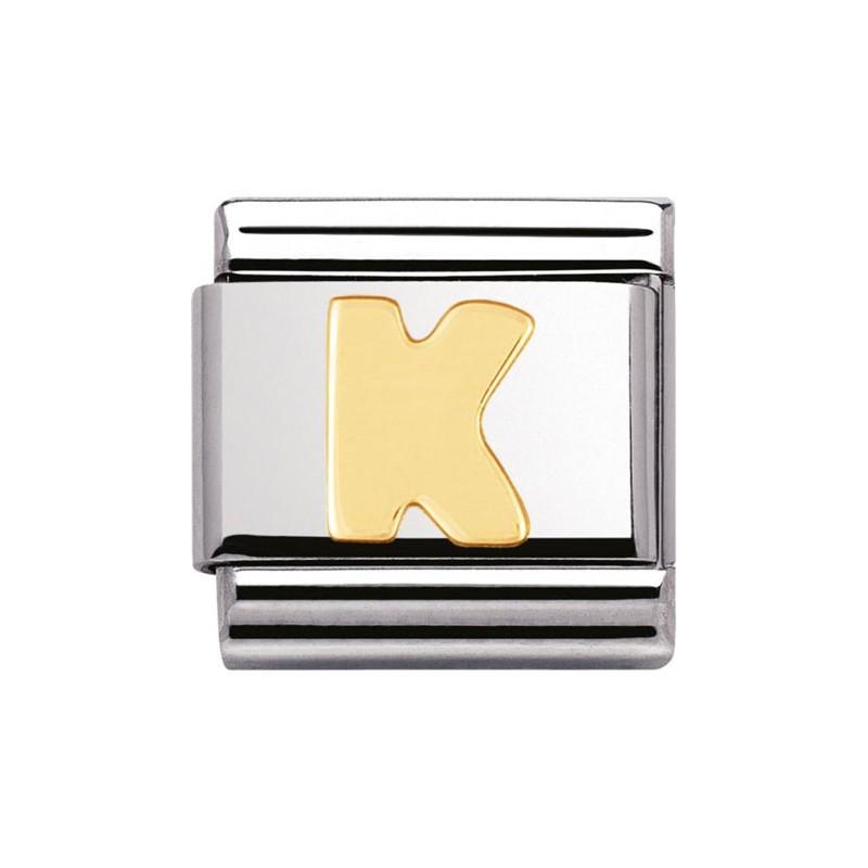Maillon Nomination classic Lettre K standard Or