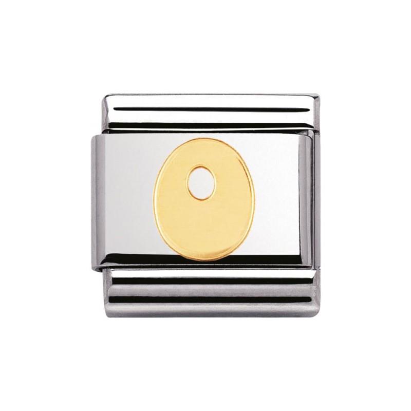 Maillon Nomination classic Lettre O standard Or
