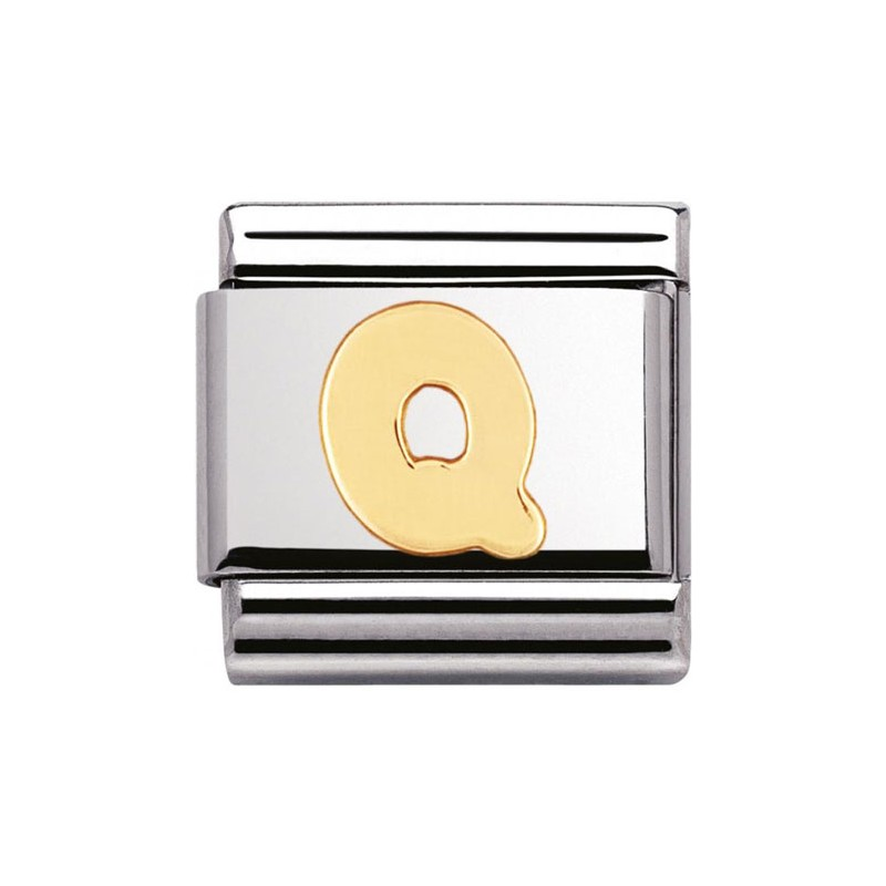 Maillon Nomination classic Lettre Q standard Or