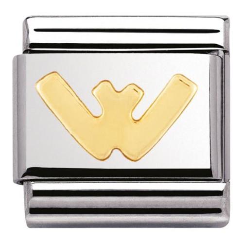 Maillon Nomination classic Lettre W standard Or