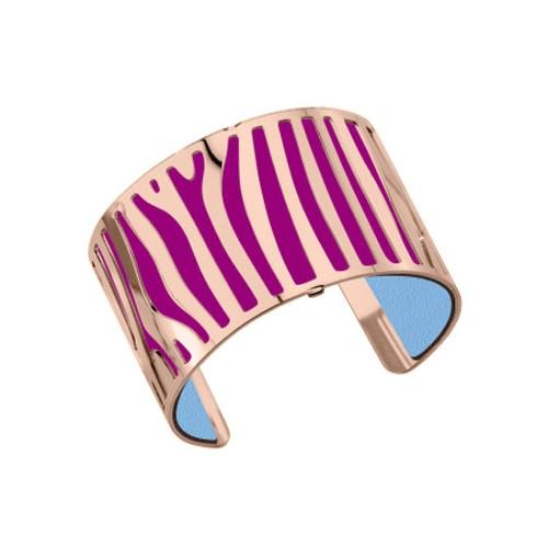 Bracelet femme Georgette Plaqué Or rose et cuir reversible