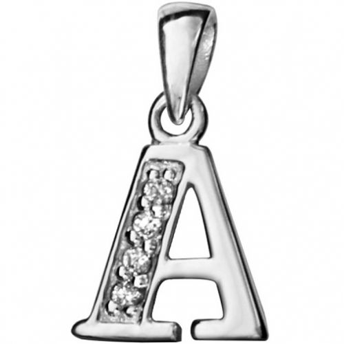 Pendentif initiale Argent et oxydes de zirconium
