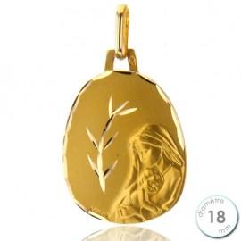Médaille de baptême Vierge à l'enfant en Or - Augis