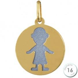 Médaille Laïque en Or et acier - Augis