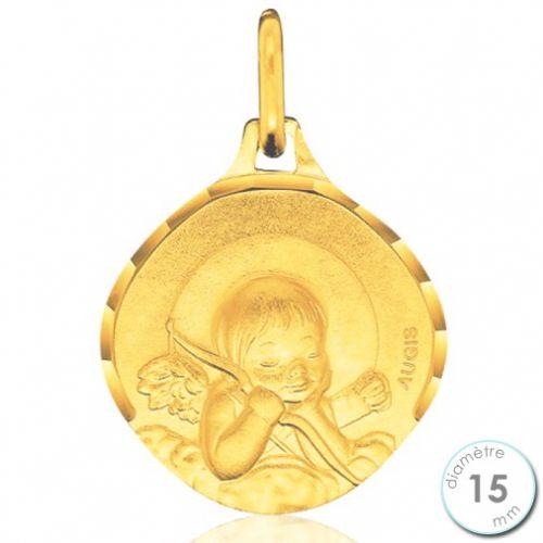 Médaille de baptême Ange en Or - Augis