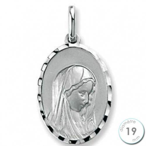 Médaille de baptême Vierge en Argent