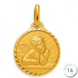 Médaille de baptême Ange en Plaqué Or