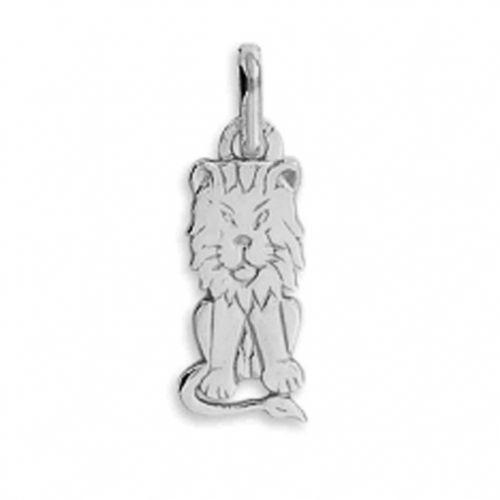 Pendentif Lion en Or blanc