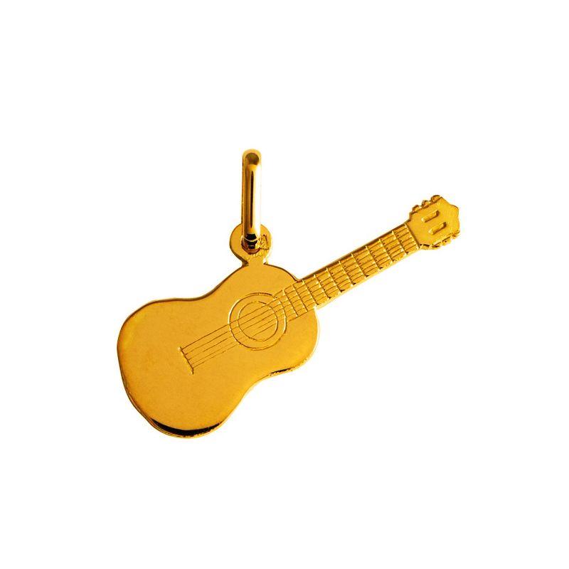 Pendentif guitare en Or