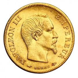 Pièce Or 10 Francs Napoléon tête non laurée