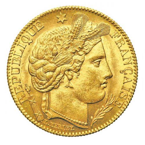 Pièce Or 10 Francs Cérès