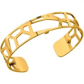 Bracelet manchette Les Georgettes motif girafe plaqué Or jaune small