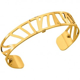 Bracelet manchette Les Georgettes motif perroquet plaqué Or jaune small