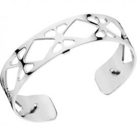Bracelet manchette Les Georgettes motif résille plaqué Argent small