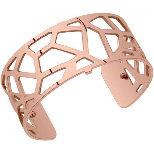 Bracelet manchette Les Georgettes motif girafe plaqué Or rose medium