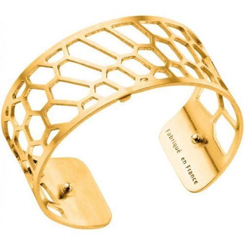 Bracelet manchette Les Georgettes motif nid d'abeille plaqué Or jaune medium